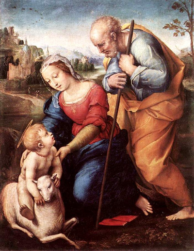 Raffaello_the_holy_family_with_a_la